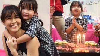 Zia Dantes shares goodies at her birthday party with classmates and teachers