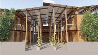 Young Filipino wins grand prize for low-cost bamboo house that can be built in 4 hours