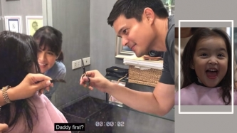 Zia Dantes gets her first haircut; Marian and Dingdong super involved