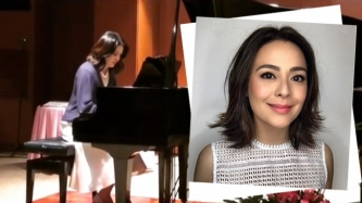 Dawn Zulueta learns how to play piano before turning 50