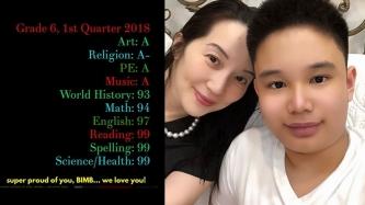 Kris Aquino proud of Bimby's high grades