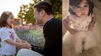 Scarlet Snow Belo's puppy dog eyes are dad Hayden Kho Jr.'s