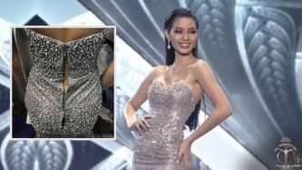 Jehza Huelar wears a ripped gown during Miss Supranational 2018 pageant