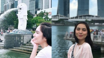 Kyline Alcantara goes to Singapore on her first trip abroad
