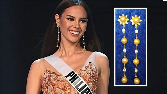 Image result for earring of catriona gray three stars and the sun pic