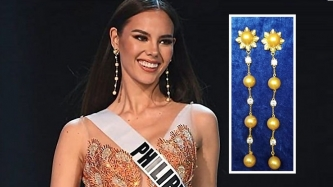 Catriona Gray designed the earrings she wore at Miss Universe 2018 prelims