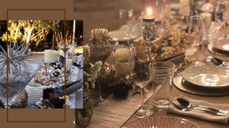 Celebrities' prettiest table settings for their Christmas dinners