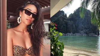 YOU star Shay Mitchell unwinds in El Nido, Palawan