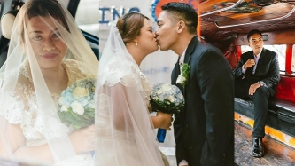This couple's simple wedding sparks joy among netizens