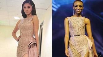 WHO WORE IT BETTER: Kim Chiu versus Ethiopian beauty queen Bella Lire Lapso in Benj Leguiab IV