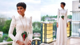 Miss Vietnam 2018 H'Hen Nie fuses Filipino and Vietnamese cultures in one dress