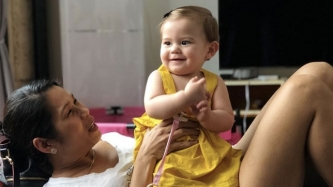 Pokwang's baby hits a milestone: She can now walk!