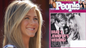Brad Pitt among the celebrity guests spotted at Jennifer Aniston's 50th birthday