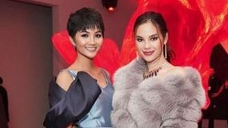 Miss Universe Catriona Gray and Miss Vietnam H'Hen Nie reunite at New York Fashion Week