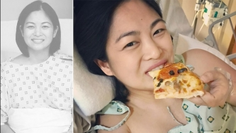 Miriam Quiambao treats herself to pizza after giving birth