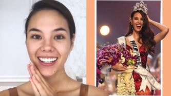 Miss Universe 2018 Catriona Gray recreates coronation makeup for Vogue