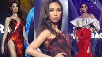 Maymay Entrata shines in mini fashion show with Miss Universe Philippines titlists