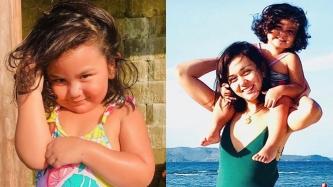 Beauty Gonzalez, daughter Olivia Ines: Beach lovers both
